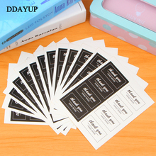 80pcs/10sheet Thank You Label Stickers Kraft Label Sticker Diameter For Diy Hand Made For Gift Cake Sealing Hang Tag