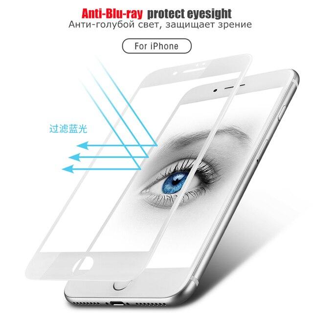 Protecteur décran complet pour iPhone X XR 8 5 5 s SE 6 6 S 7 Plus XS Max Film protecteur De téléphone en verre trempé