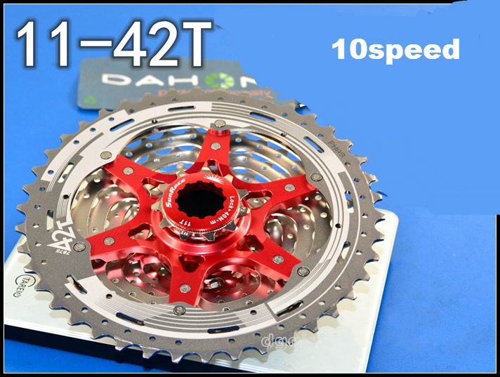 ФОТО 11-40T 11-42T 10s Mountain Bike Freewheel 10 Speed MTB Bicycle Cassette Bicycle Flywheel Bike Parts