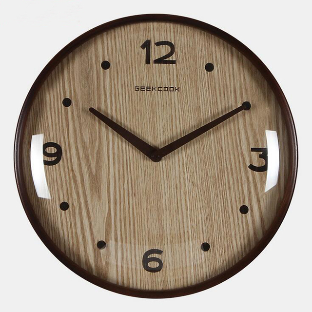 12 inch 315cm large round wooden wall clock silent quartz watch japanese korea style home