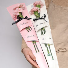 10pcs Single Rose Box 14*50cm Three-hole Tote Bag Wedding Valentine's Day Mother's Day Packaging Supplies(China)