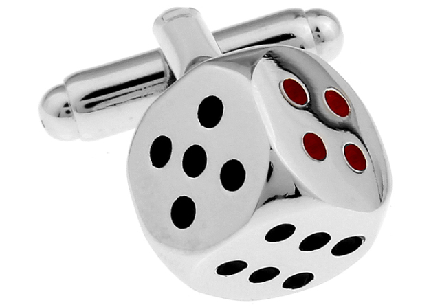 Men Copper Silver Dice Cufflink