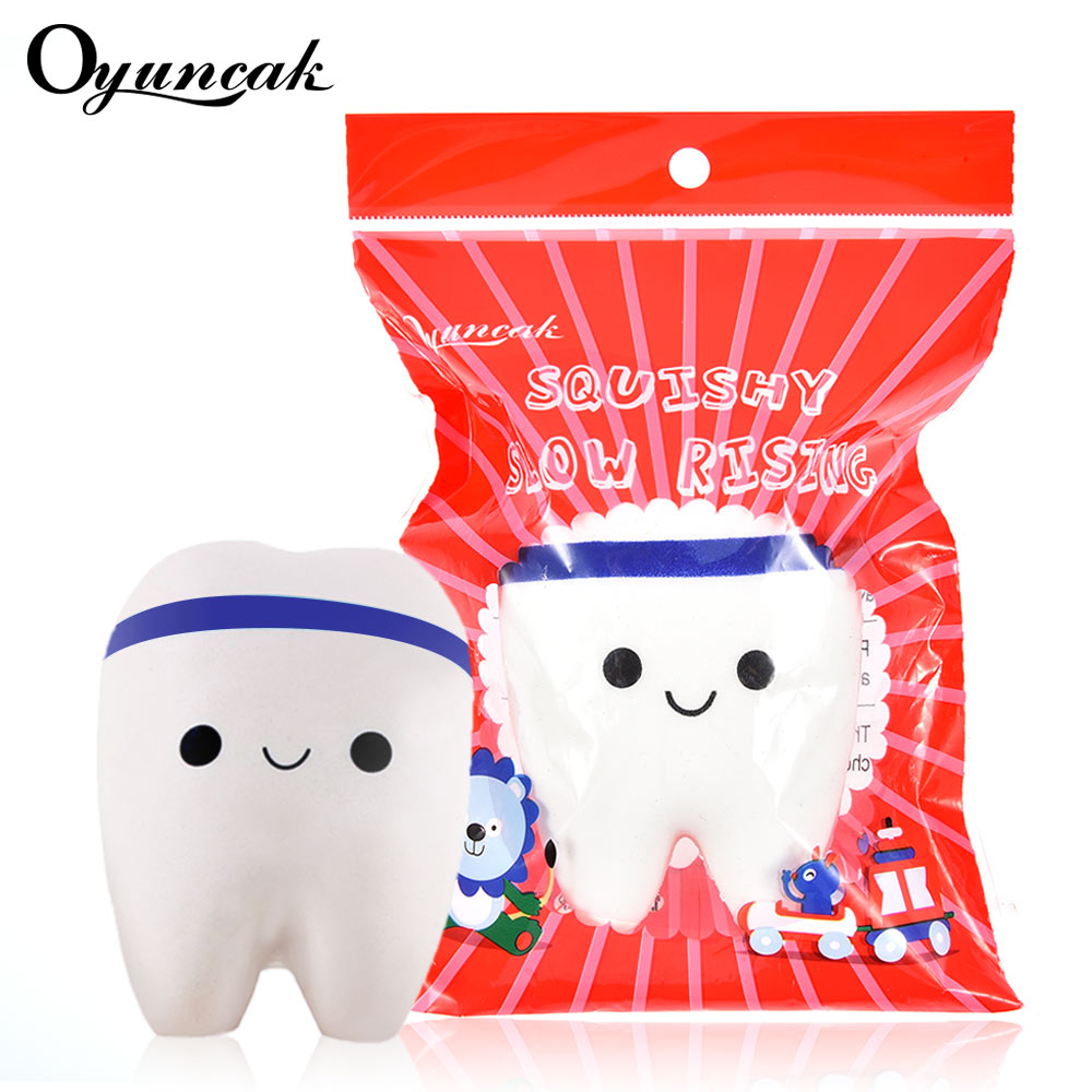 Oyuncak Squishe Tooth Fun Squishy Antistres Stress Relief Toys Novelty & Gag Toy Slow Rising Squisy Popular Children Gadget Gift