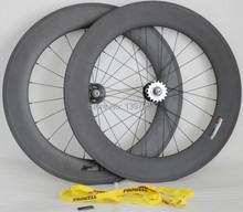 3k /matt full carbon 700c 88mm width 23mm  clincher wheelset for track bicycle with fixed gear Width 20/24h
