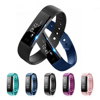 Fitness Watches Heart Rate Monitor Smart Band ID115HR Wristband Black Pink Blue Bracelet Activity Tracker for xiaomi iphone