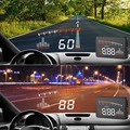 """3"""" X5 Car HUD Speed / Temperature Alarm Car Head Up Display For Cars Inline With OBD2 OBDII / EUOBD"""