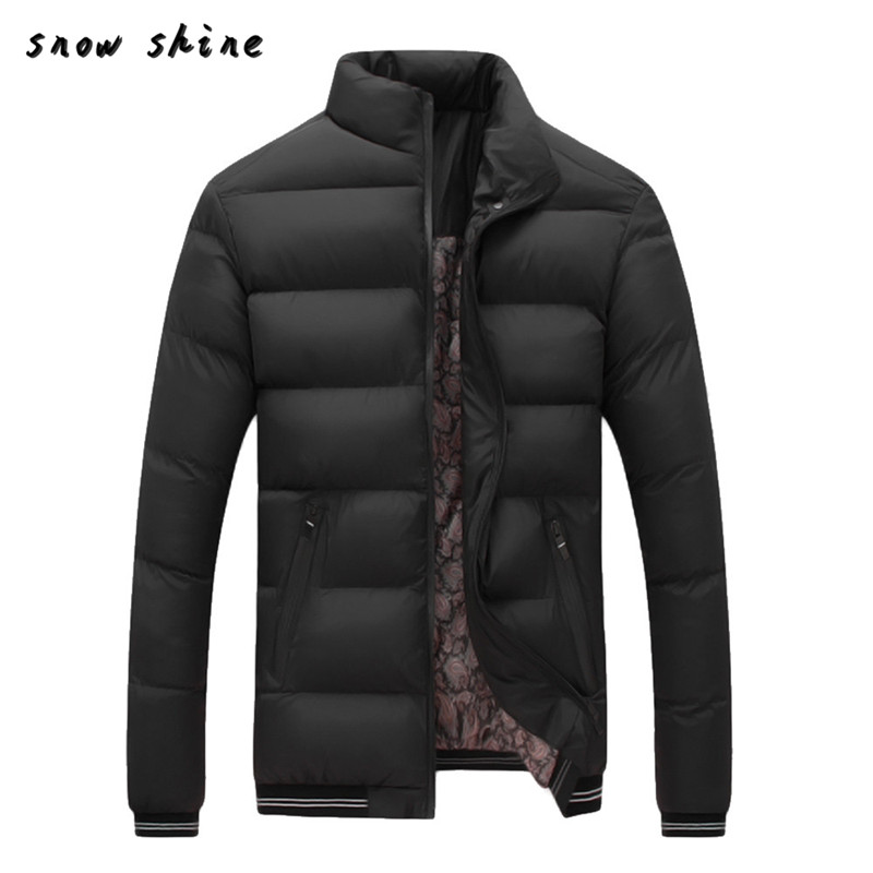snowshine #3002     Men Winter Warm Slim Fit Thick Bubble Coat Casual Jacket Parka Outerwear   free shipping
