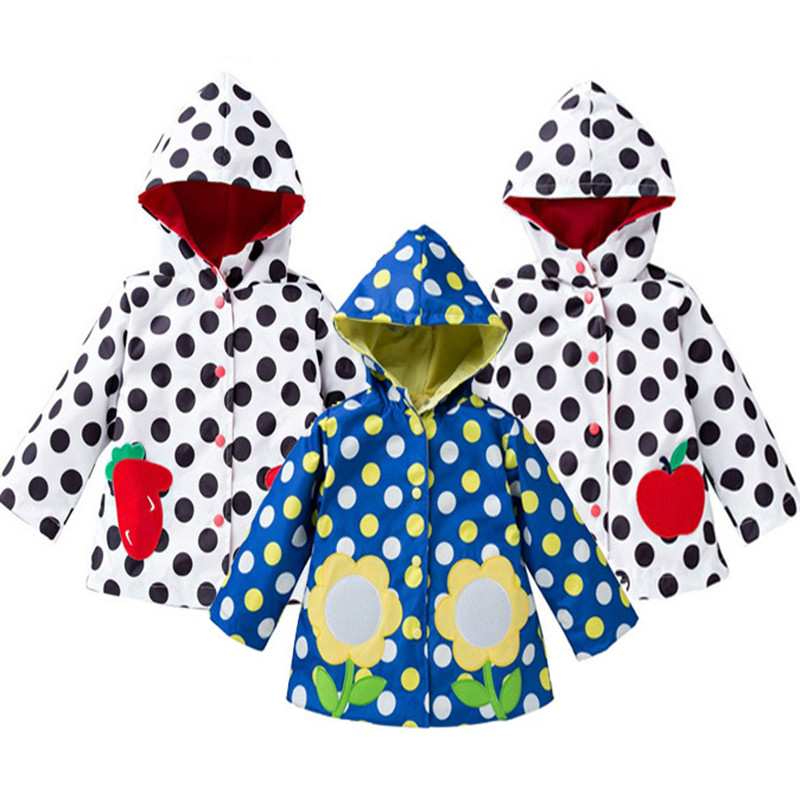 Girls Outerwear Rainwear/Rainsuit Girls Jackets Raincoat Fashion Waterproof Jackets Rain ...