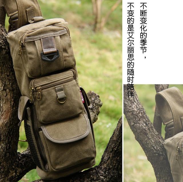 2018 FREE SHIPPING Aerlis men leisure shoulder bag canvas vintage man bag  multifunctional handbag high qualiy 142ef3cbbb7a9