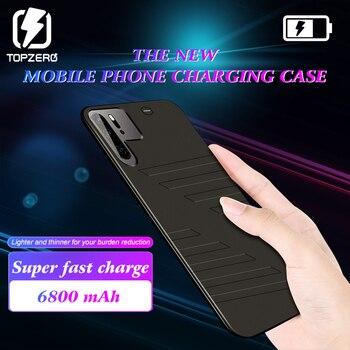 TOPZERO cargador de batería para Huawei P30 PRO 6800 mAh Banco de la energía de la cubierta de la caja para Huawei P30 PRO Power caso de carga