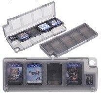 10 em 1 Protetora Dura de Plástico Caixa de Armazenamento Caso Titular Cartões De Jogo da Memória para Sony PlayStation PS Vita PSV Psvita 1000 2000 Fino
