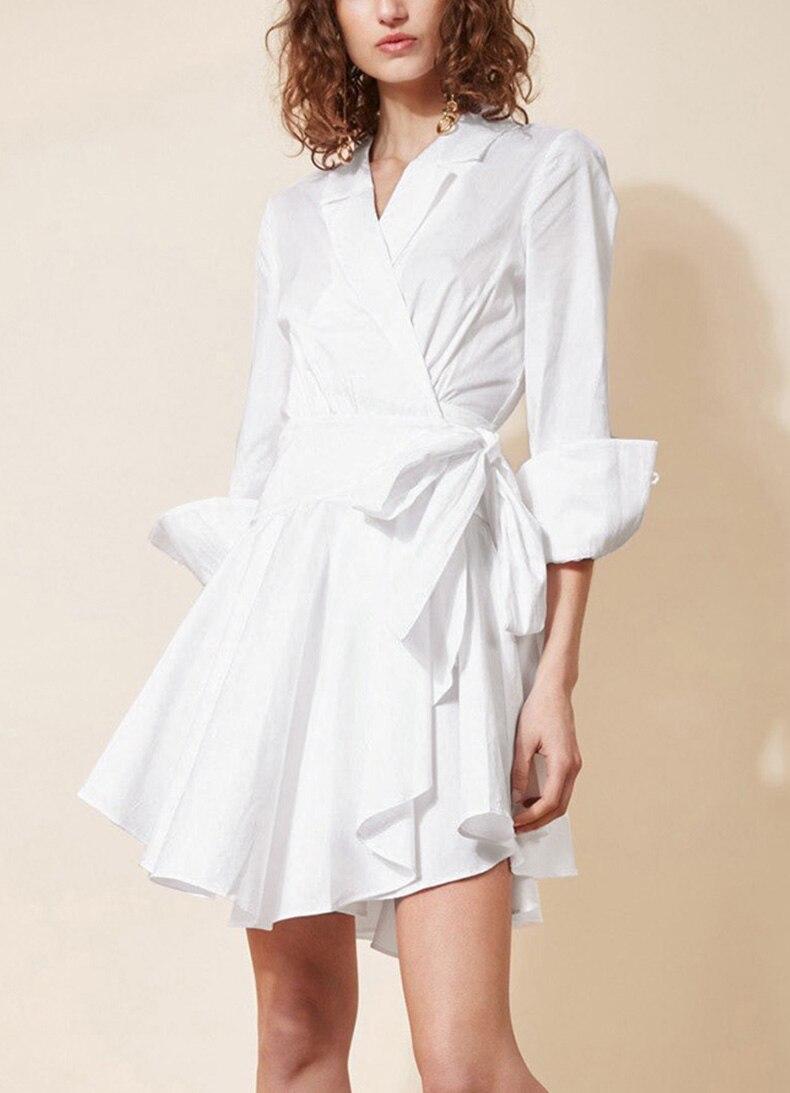 See Orange Boyfriend Shirt Sexy Dress Summer Dress Office Lady White