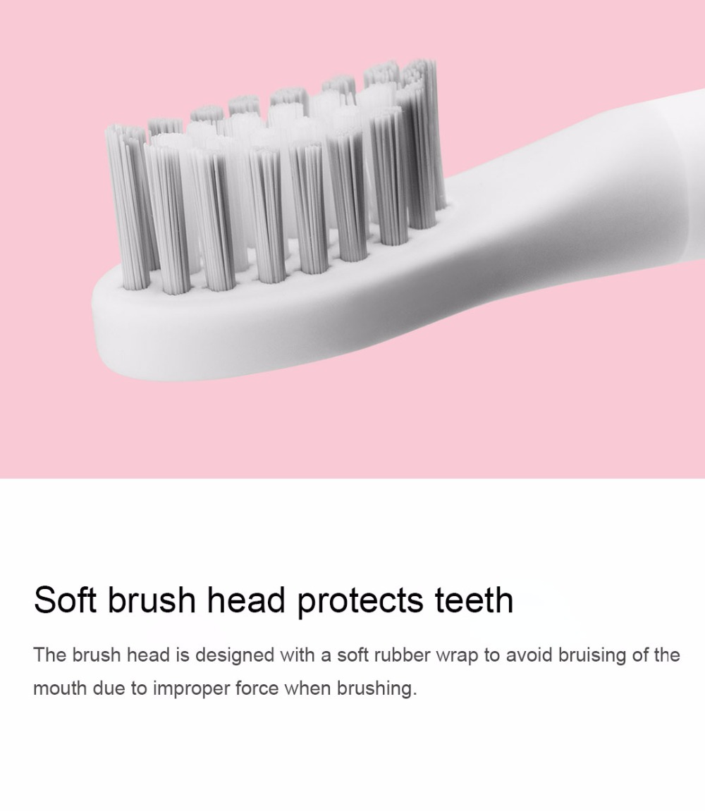 Xiaomi Mijia SO WHITE Sonic Electric Toothbrush Portable IPX7 Waterproof Deep Clean Inductive Rechargeable Wireless Tooth Brush (8)