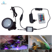 1 to 1 aquarium remote light Waterproof IP68 RGB 36 LED Underwater Spot Light For Swimming Pool Fountains Pond Garden fish tank led underwater waterproof white rgb spot lamp on solar power ip68 submarine projector light for garden pond pool tank decoration