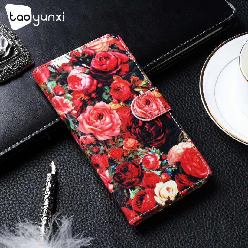 TAOYUNXI Stand Fip Case For Wiko Lenny 3 Max 5.0 inch Mobile Phone Cover Bag  PU leather Cover Holster Coque Skin diy Paint