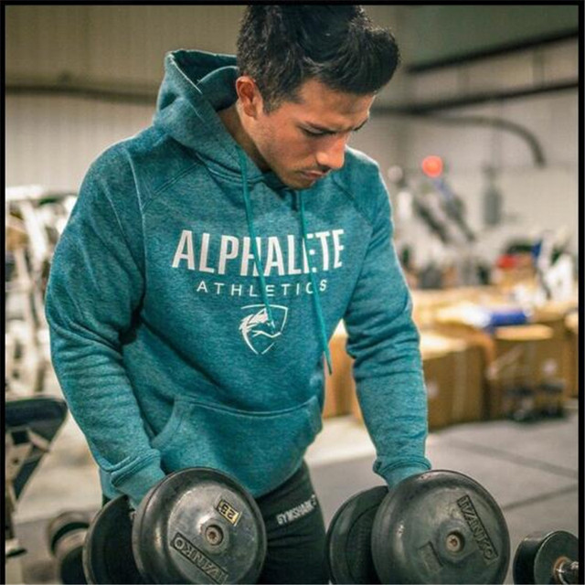 Nouvelle 2016 printemps automne Shark Alphalete impression polaire Hoodies hommes Workout sweat clothingHip hop