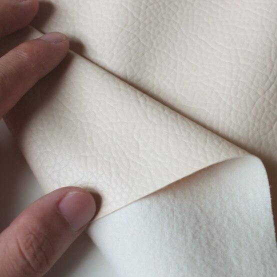 """Discreet Beige Grote Lychee Patroon Pu Synthetisch Leer Kunstleer Stof Bekleding Auto-interieur Sofa Cover 54 """"breed Per Yard Op Reis"""