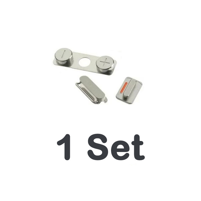 1set/lot Hot Sale High Quality 3 In 1 Side Button For Iphone 4 4G 4S Power On Off Lock + Volume Switch + Mute Silent Key Set
