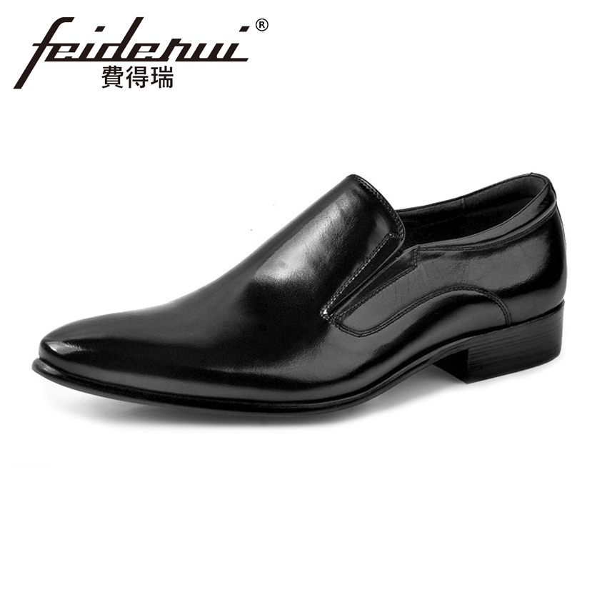 Plus Size Italian Designer Men's Loafers Pointed Toe Slip on Man Flats Genuine Leather Handmade Height Increasing Shoes ASD36 2017 summer new fashion sexy lace ladies flats shoes womens pointed toe shallow flats shoes black slip on casual loafers t033109