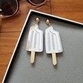Мороженое серьги акриловые лазерного новое 2016 весна лето девушки женские украшения принадлежности еда серьги