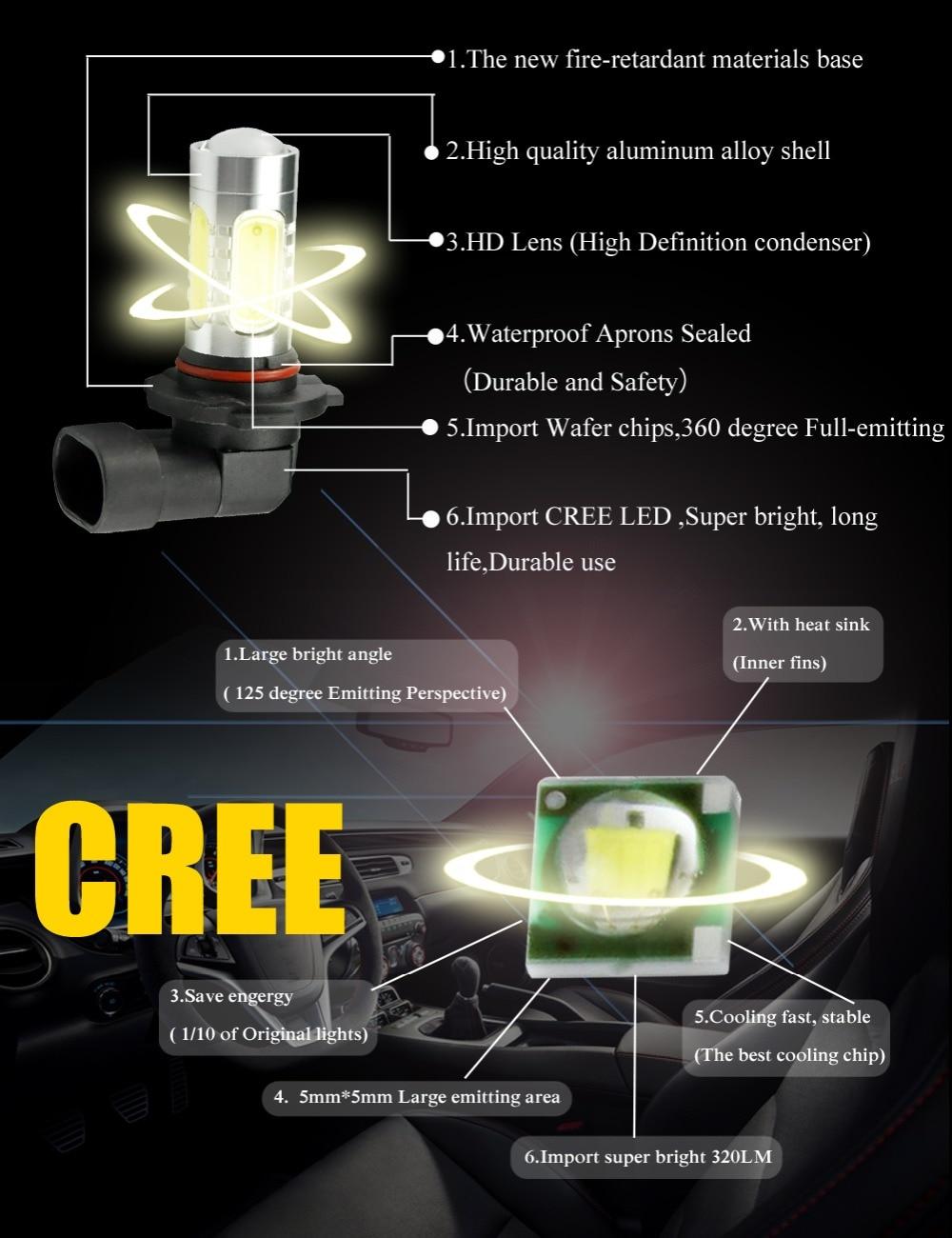 AutoEC 2 x LED svjetla za maglu H11 16w s velikom snagom automobila - Svjetla automobila - Foto 3