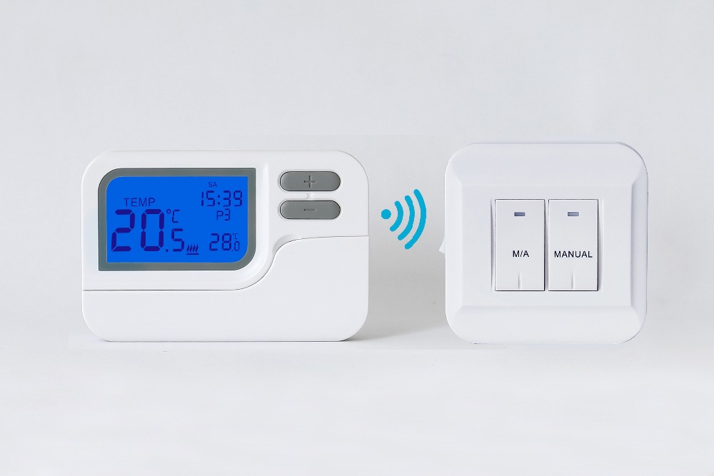 Tp28rf Wireless Digital Room Thermostat For Water Heating