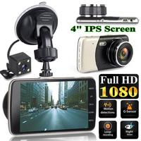 4 Inch Front And Rear Dual Lens Driving Recorder HD 1080P Car Vehicle DVR EDR Dashcam With G Sensor Rearview Functions Dash Cam