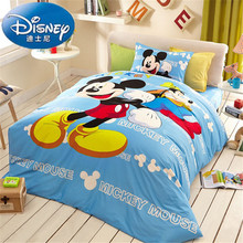 72b5ddb418 Disney Mickey Mouse Capa de Edredão Set 3 ou 4 Peças Queen Size de Solteiro  Conjunto de Cama para Crianças Decoração Do Quarto d.