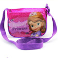 Princesa de dibujos animados bolsa de mensajero niñas mini solo hombro bolsas de PVC lindo kids bolso de viaje para el bebé