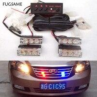 FUGSAME Xe 51035led xe máy flash light Strobe Cảnh Báo EMS Police Xe Tải Flashing Lights Nước Chữa Cháy Red Blue White Xanh Hổ Phách