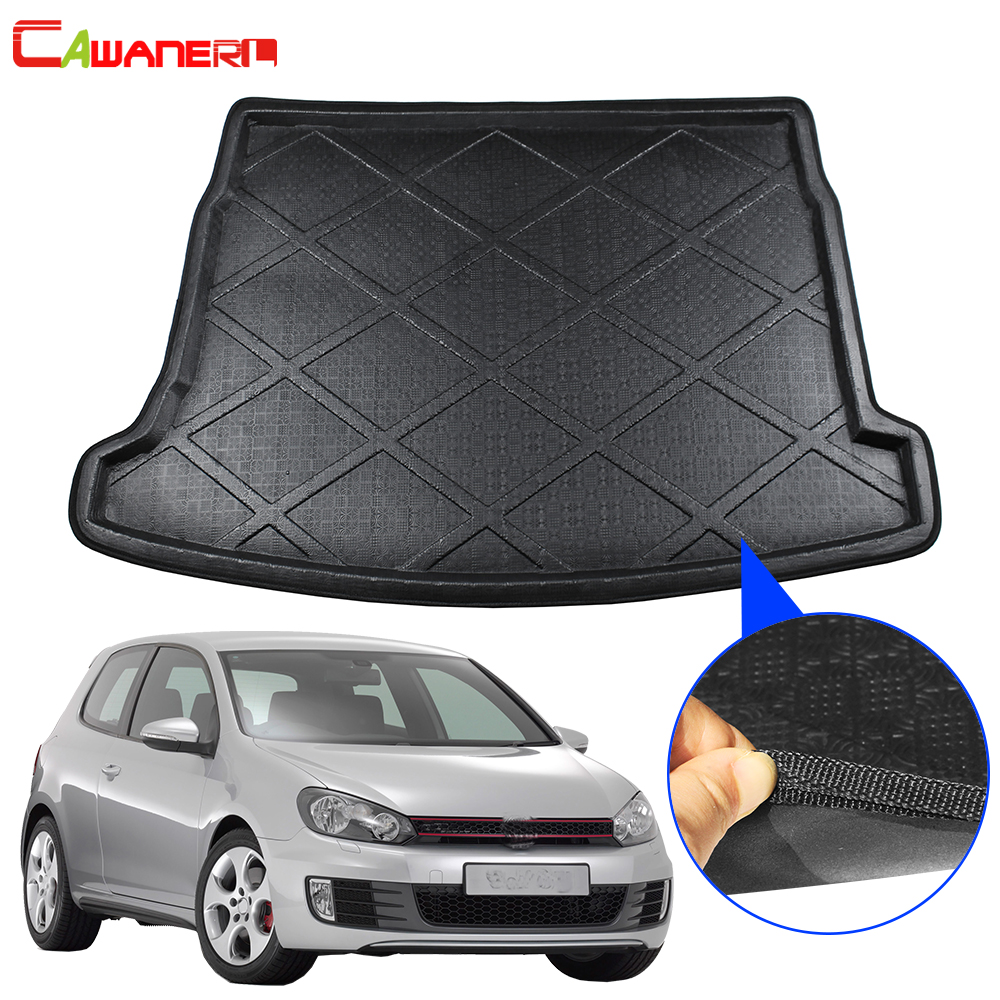 Cawanerl Car Styling Trunk Mat Tail Cargo Tray Boot Liner Floor Mud Kick Carpet Pad For Volkswagen Golf 6 GTI 2009-2013