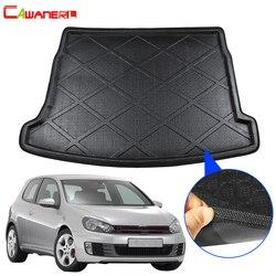 Автомобильный коврик Cawanerl Стайлинг для багажника, коврик для багажника, подкладка для багажника, коврик для пола, коврик для Volkswagen Golf 6 GTI ...