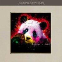 Handmade Nowoczesne Panda Obraz Olejny Abstrakcyjne Czarny Obraz Na Płótnie Pokoju Dekoracje Ścienne Chin Skarb Narodowy Pielęgnować Zwierzęta