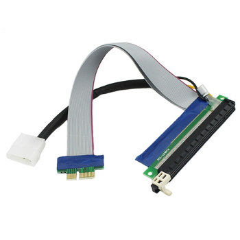 Chenyang PCI-E Express 1x to 16x Flex Extension Cable Extender Riser Card Converter Adapter with 4pin Power 20cm 10pcs 006c blue 1x to 16x pci express riser card pci e extender 60cm usb 3 0 cable sata to 6pin power for btc miner raiser card