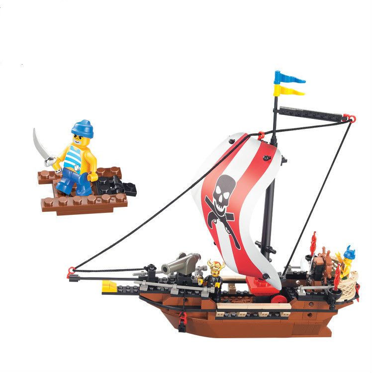 Sluban The Caribbean Pirate Ship Treasure Ships Weapons DIY Building Blocks Set Figures figures  Compatible With Lego трусы finn the treasure