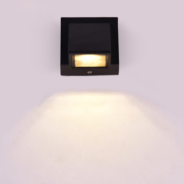 Outdoor Lamp 3W LED Wall Sconce Light Fixture Waterproof Building ...