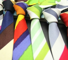6 cores 5 cm gravata listrada gravata para os homens gravatas gravatas finas terno acessórios gravata homem pescoço hip hop 20 pçs/lote