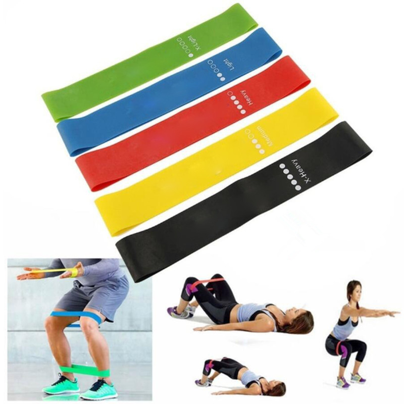 1/5 Pcs Sports Resistance Belt Latex Tension Belt Circulation Exercise Yoga Elastic Exercise Belt Fitness Training