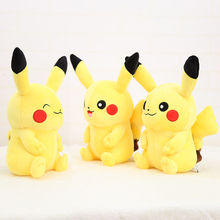 30cm Cute High Quality Anime Kawaii Smile Pikachu Plush Toys Collection Doll for Baby Birthday Gifts
