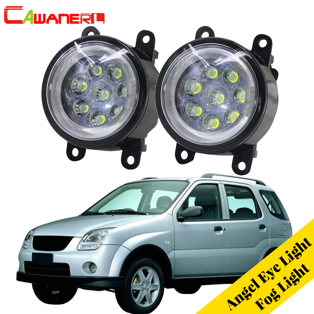 Cawanerl pour 2003-2008 Subaru Justy III (G3X) voiture à hayon lampe à LED antibrouillard DRL Angel Eye feux de jour 12 V 2 pièces