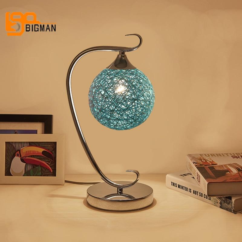 New item art decor table lamp modern brief table lights Dia15*H38cm LED lamps for bedroom living room