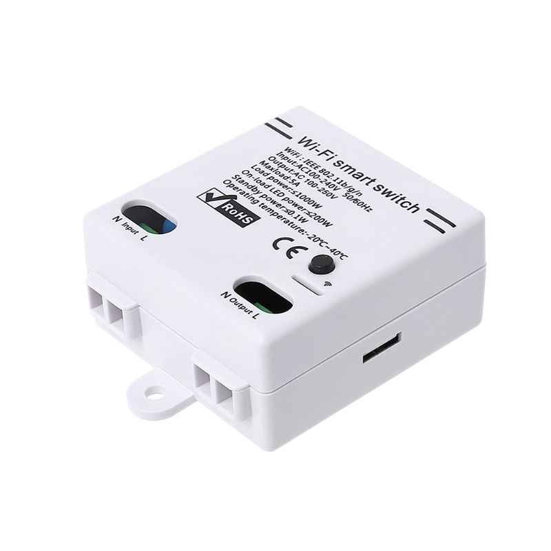 Wifi Smart Switch Nirkabel Aplikasi Remote Control Smart Modul AC100-240V 5A