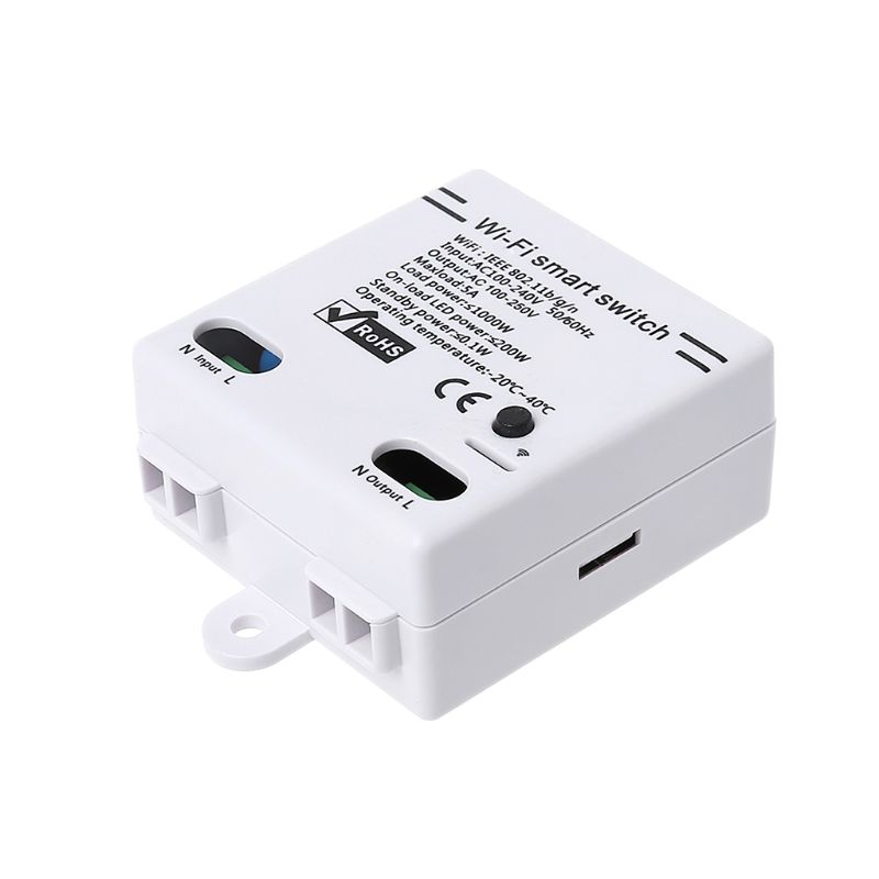 Wifi Smart Switch Wireless APP Remote Control Smart Home Module AC100-240V 5A