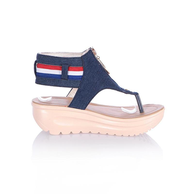 Wedges Shoes For Women High Heel Summer Ladies Gladiator Sandals Woman Platform Cowboy Zipper Sandalias Mujer 2018 hj98 15