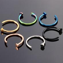 1Pc 6Col Surgical Steel Nose Ring  Piercing   Nez Piercing Nariz Nose Stud Circular Piercing Body Jewelry