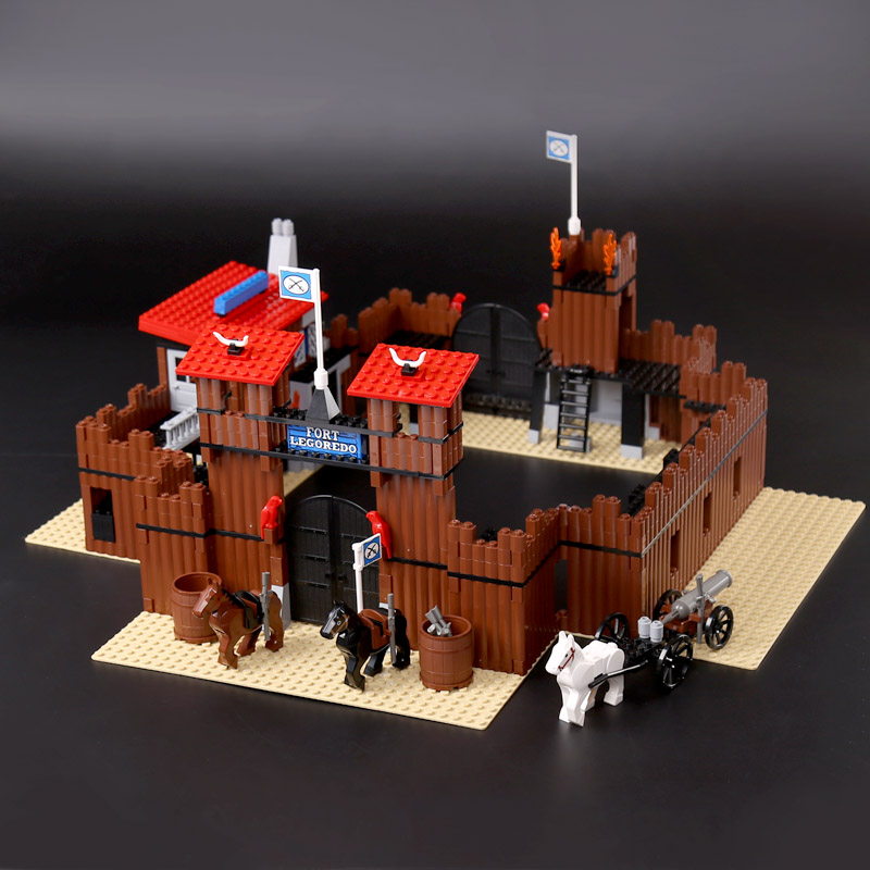 DIY Model 742Pcs Genuine Building Series The Idian Cowboy`s Castle Set Lepines Educational Building Blocks Bricks Toys GiftS bering 30226 742
