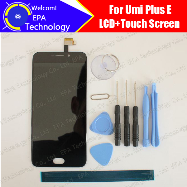 Prix pour Umi plus E LCD Display + Écran Tactile 100% Original Nouveau Testé Digitizer Panneau de Verre de Remplacement Pour plus E + outils + Adhésif