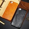 """Para iphone 7 cajas del teléfono del patrón de lujo del cocodrilo patrón sexy pu cuero + Cubierta Protectora Dura de la PC Volver Retro Para iphone7 4.7"""""""