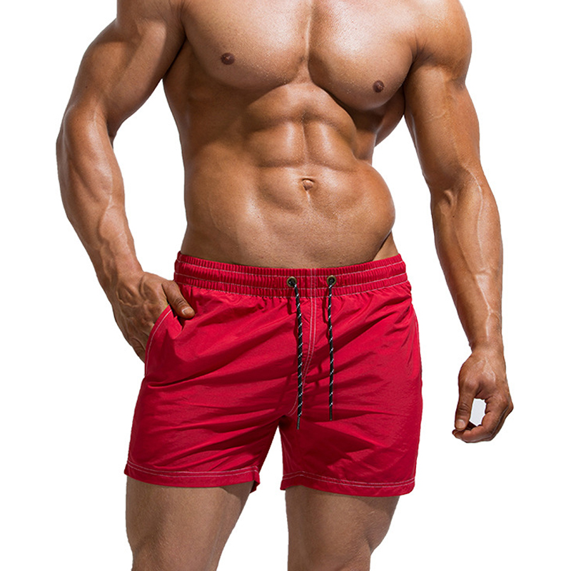 New Season Sale Quick Drying Sports Shorts Men Sexy Red Sleep Bottoms Fashion Mens Outdoor Beach Shorts Cozy Male Homewear Pants