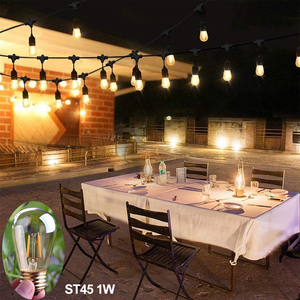 Image 5 - E27 żarówka LED ściemniająca żarówka E14 220V złota 1W 3W 4W 6W 8W E12 E26 110V Edison Retro żarówka LED 2200K G40 żarówka